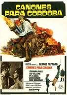 Cannon for Cordoba - Spanish Movie Poster (xs thumbnail)