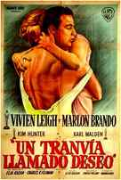 A Streetcar Named Desire - Spanish Movie Poster (xs thumbnail)
