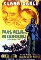 Across the Wide Missouri - Spanish Movie Poster (xs thumbnail)