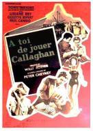 À toi de jouer, Callaghan - French Movie Poster (xs thumbnail)
