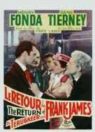 The Return of Frank James - Belgian Movie Poster (xs thumbnail)