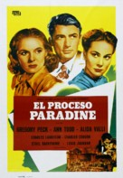 The Paradine Case - Spanish Movie Poster (xs thumbnail)