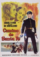 Santa Fe Trail - Spanish Movie Poster (xs thumbnail)