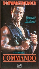 Commando - Finnish VHS cover (xs thumbnail)
