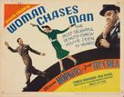 Woman Chases Man - Movie Poster (xs thumbnail)