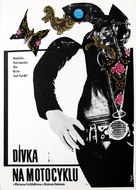The Girl on a Motocycle - Czech Movie Poster (xs thumbnail)