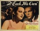 To Each His Own - Movie Poster (xs thumbnail)