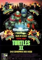 Teenage Mutant Ninja Turtles II: The Secret of the Ooze - German Movie Poster (xs thumbnail)