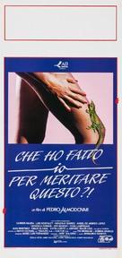 ¿Qué he hecho yo para merecer esto!! - Italian Movie Poster (xs thumbnail)
