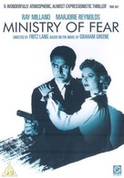 Ministry of Fear - British DVD cover (xs thumbnail)