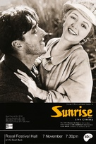 Sunrise: A Song of Two Humans - British Movie Poster (xs thumbnail)