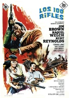 100 Rifles - Spanish Movie Poster (xs thumbnail)
