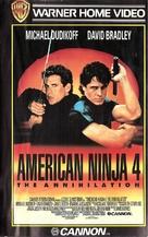 American Ninja 4: The Annihilation - Finnish VHS movie cover (xs thumbnail)