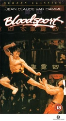 Bloodsport - British VHS movie cover (xs thumbnail)