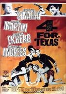4 for Texas - Swedish Movie Poster (xs thumbnail)