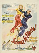 Follow the Fleet - Belgian Movie Poster (xs thumbnail)