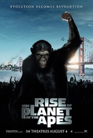 Rise of the Planet of the Apes - Singaporean Movie Poster (xs thumbnail)
