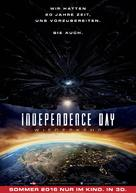 Independence Day: Resurgence - German Movie Poster (xs thumbnail)