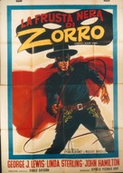Zorro's Black Whip - Italian Movie Poster (xs thumbnail)
