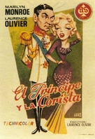 The Prince and the Showgirl - Spanish Movie Poster (xs thumbnail)