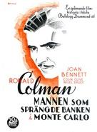 The Man Who Broke the Bank at Monte Carlo - Swedish Movie Poster (xs thumbnail)