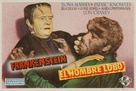 Frankenstein Meets the Wolf Man - Spanish Movie Poster (xs thumbnail)