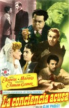 Conciencia acusa, La - Spanish Movie Poster (xs thumbnail)