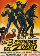 Le tre spade di Zorro - Spanish Movie Poster (xs thumbnail)