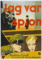 I Was a Spy - Swedish Movie Poster (xs thumbnail)