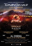 David Gilmour Live at Pompeii - Italian Movie Poster (xs thumbnail)
