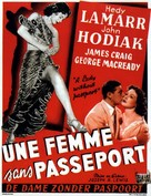 A Lady Without Passport - Belgian Movie Poster (xs thumbnail)