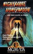Nightmare Honeymoon - German VHS cover (xs thumbnail)