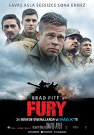 Fury - Turkish Movie Poster (xs thumbnail)