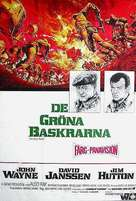 The Green Berets - Swedish Movie Poster (xs thumbnail)