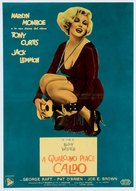 Some Like It Hot - Italian Movie Poster (xs thumbnail)