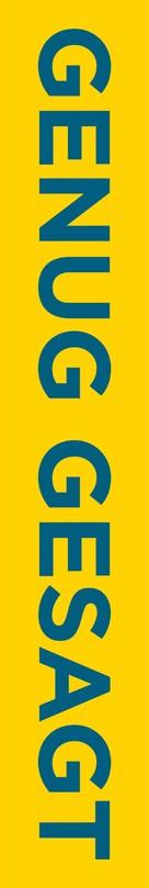 Enough Said - German Logo (xs thumbnail)