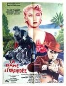 La femme à l'orchidée - French Movie Poster (xs thumbnail)