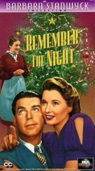 Remember the Night - VHS movie cover (xs thumbnail)