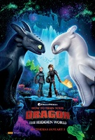 How To Train Your Dragon The Hidden World 2019 Movie Poster