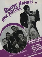 Four Men and a Prayer - French Movie Poster (xs thumbnail)