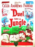 Duel in the Jungle - French Movie Poster (xs thumbnail)