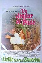Un amour de pluie - Belgian Movie Poster (xs thumbnail)
