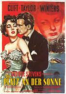A Place in the Sun - German Movie Poster (xs thumbnail)