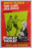 Some Like It Hot - Danish Movie Poster (xs thumbnail)