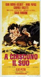 A ciascuno il suo - Italian Movie Poster (xs thumbnail)