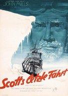 Scott of the Antarctic - German Movie Poster (xs thumbnail)