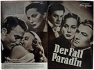 The Paradine Case - German poster (xs thumbnail)