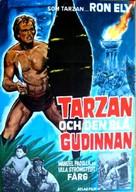 Tarzan's Jungle Rebellion - Swedish Movie Poster (xs thumbnail)