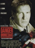 Clear And Present Danger - French Movie Poster (xs thumbnail)