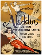 Aladdin and His Lamp - Danish Movie Poster (xs thumbnail)